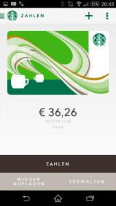 Starbucks Deutschland app