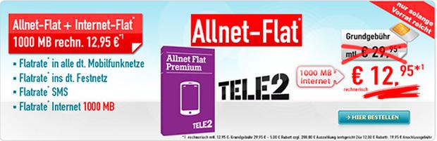 Allnet-Flat + 1.000 MB – 288 Euro Auszahlung