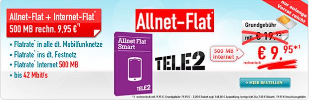 Allnet-Flat + 500 MB – 168 Euro Auszahlung