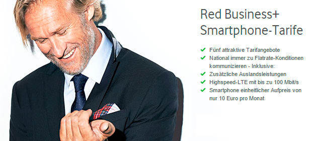 Vodafone Red Business+ Smartphone-Tarife