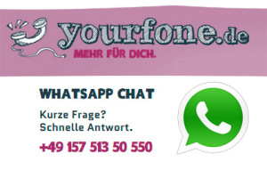 Yourfone: Beratung nun auch via WhatsApp