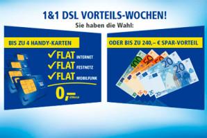 1&1 Vorteilswochen mit Ersparnissen bis 240 Euro