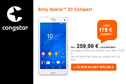 congstar Allnet Specials: Top-Smartphones + Allnet Flat