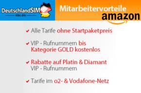 DeutschlandSIM bietet Sonderkonditionen für Mitarbeiter von Amazon und Co.