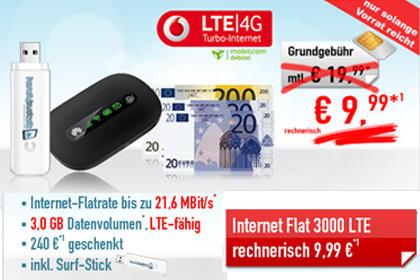 3 GB LTE Flat im Vodafone-Netz