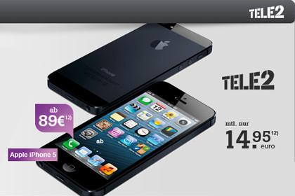 Tele2 Allnet-Flat mit iPhone 5 B-Ware zu Top-Preisen