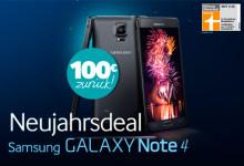100 Euro Cashback bei Kauf eines Samsung Galaxy Note 4