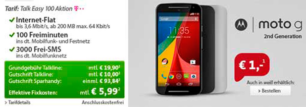 alk Easy 100 & Motorola Moto G 2nd Generation