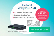 sparkabel Turbo-Internet-Flat