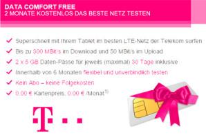 Data Comfort Free: Die Telekom lässt 300 MBit/s-LTE von Kunden testen