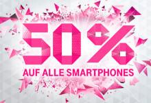 Smartphones bei Telekom satte 50 Prozent reduziert