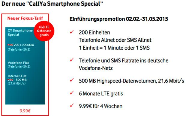 Vodafone CallYa Special