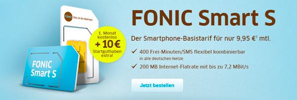 Fonic: Smartphone-Tarif Smart S