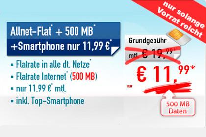 Handybude: Allnet- und Daten-Flat inkl. Hardware für nur 11,99 Euro im Monat