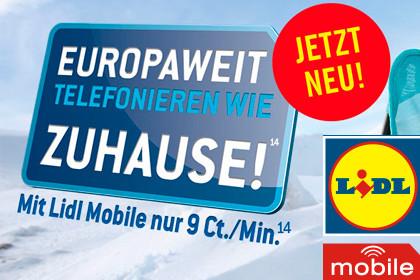 Lidl Mobile: Ohne Roaming-Gebühren in der EU unterwegs