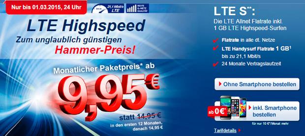 Phonex LTE-Tarife