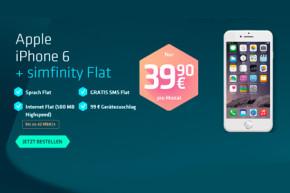 iPhone 6 und Allnet Flat von Simfinity für 39,90 Euro im Monat