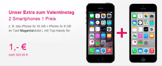 Telekom: Zum Valentinstag ein Smartphone kostenlos