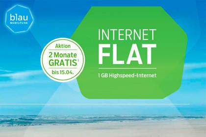 blau.de Internet-Flat 1 GB Aktion