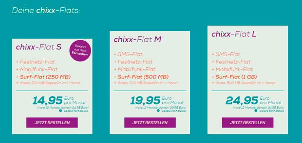 Chixx-Flat Tarife