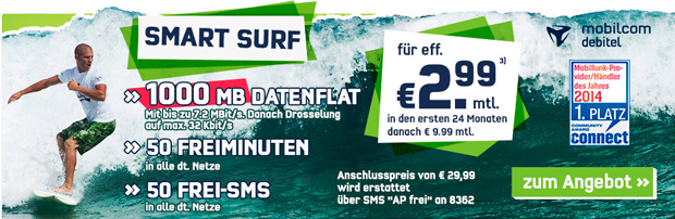 getmobile mobilcom-debitel Smart-Surf Aktion