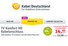 Kabeldeutschland Komfort HD Aktion