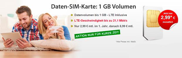 LTE-Tarife von DatenSIM.de