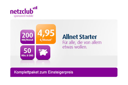 Netzclub Allnet Starter 4,95