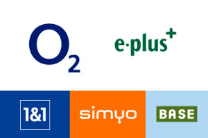 o2 E-plus 1&1 simyo BASE
