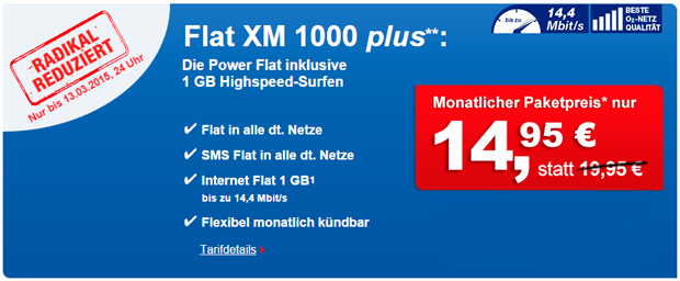 Phonex Flat XM 1000 plus - 19,95 €/Monat!