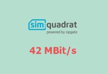 simquadrat-Kunden weiterhin mit 42 MBit/s unterwegs