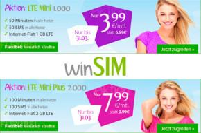 WinSIM überrascht mit super-günstigen LTE-Tarifen ab 3,99 Euro im Monat