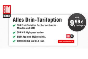 Alles Drin-Option von BILDmobil einen Monat lang kostenfrei
