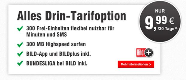 BILDmobil - Alles Drin-Tarifoption