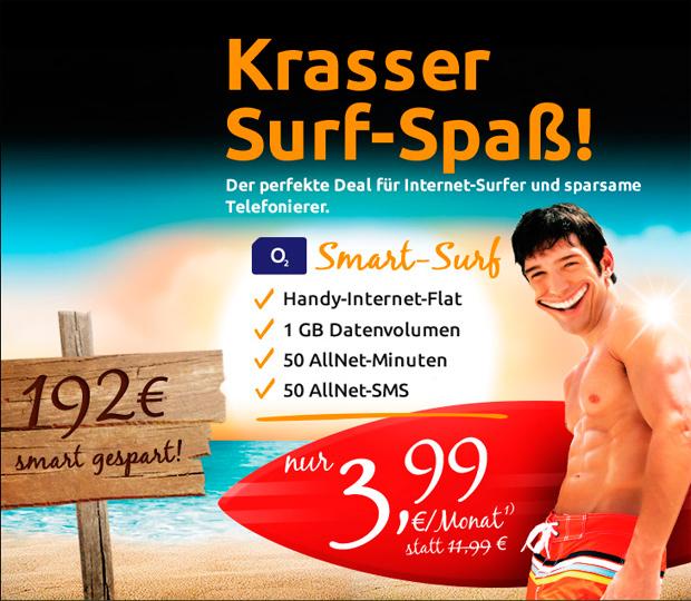 Smart Surf bei crash-tarife für nur 3,99 Euro