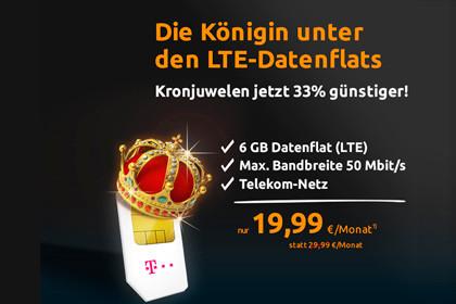 crash-tarife: 6 GB Daten-Volumen im LTE-Netz der Telekom für 19,99 Euro