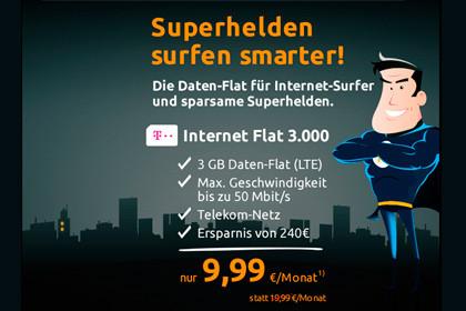 crash-tarife: Internet-Flat 3000