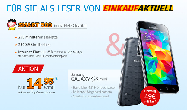 Deutschlandsim Smart 500 & Galaxy S5 mini