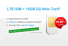 LTEsim 15Gb Angebot