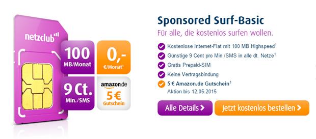 Netzclub Amazon-Gutschein 5 Euro