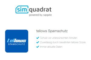 simquadrat und tellows Spamschutz