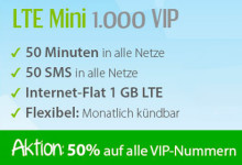 WinSIM LTE Mini 1000 VIP Aktion