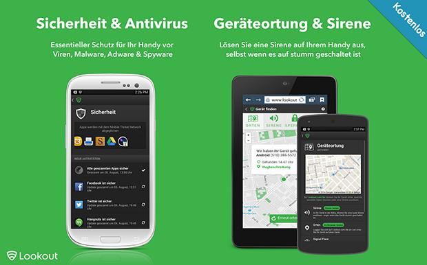 Lookout Sicherheit App