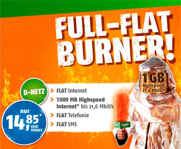 Crash-Tarife Full-Flat Burner