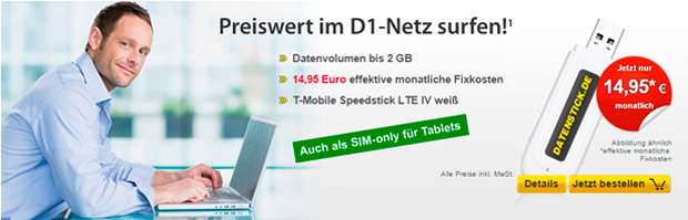 datenstick 2 GB LTE-Tarif