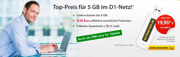 datenstick 5 GB LTE-Tarif