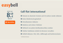 easybell Call flat international