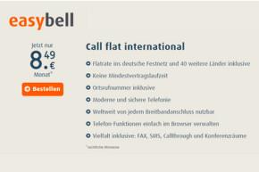 easybell: VoIP-Flat für Anrufe in 40 Länder