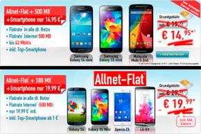 Handybude-Deals: Allnet-Flat mit 500 MB Volumen und Handy