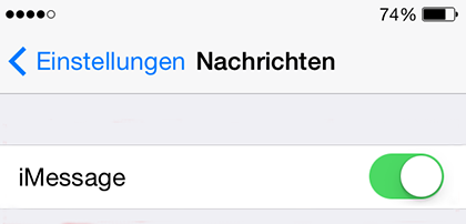iMessage auf dem iPhone aktivieren